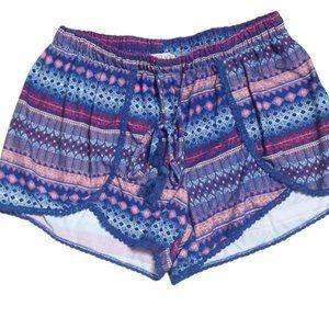 Young USA boho purple aztec shorts tassel Medium